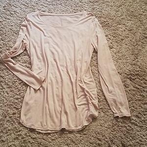 Blush colored tunic sz L